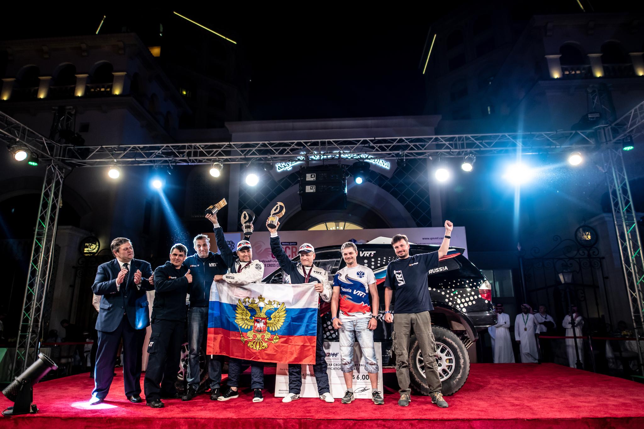 Владимир Васильев - бронзовый призер «Manateq - Qatar Cross-Country Rally 2019»